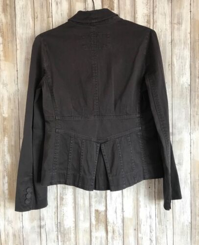 Marc Jacobs Gray Pleated Back 3 Button Blazer 6 S M Medium * CLASSIC