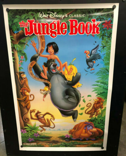 Disney Classic THE JUNGLE BOOK  Movie Poster 27 x 40 One Sheet / Double Sided