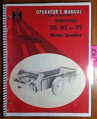 Case Ih International 130 155 175 Manure Spreader Owner Operator Manual R5 472