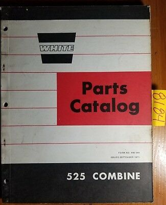 White Cockshutt Oliver 525 Combine Parts Catalog Manual 448 044 971