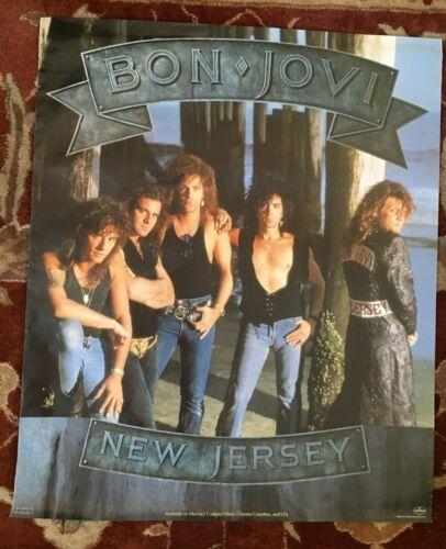 BON JOVI  New Jersey  rare original promotional poster