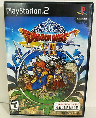 Dragon Quest VIII With Demo Sony PlayStation 2, 2006 PS2 Complete EX