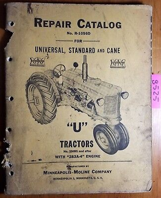 Minneapolis-moline U Utu Uts Utc Utn Tractor 334001- Repair Parts Manual R-1056d