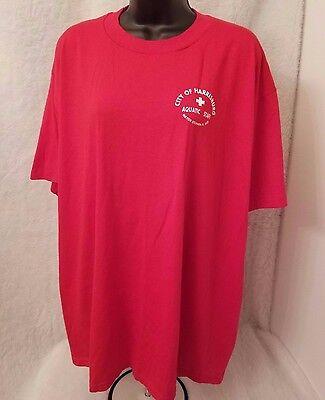 Jerzees Mens Red White City of Harrisburg Aquatic Staff T Shirt Size XXL