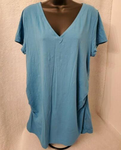 Gap Maternity Womens Blue Pure Body Shirt Top Blouse Size XXL