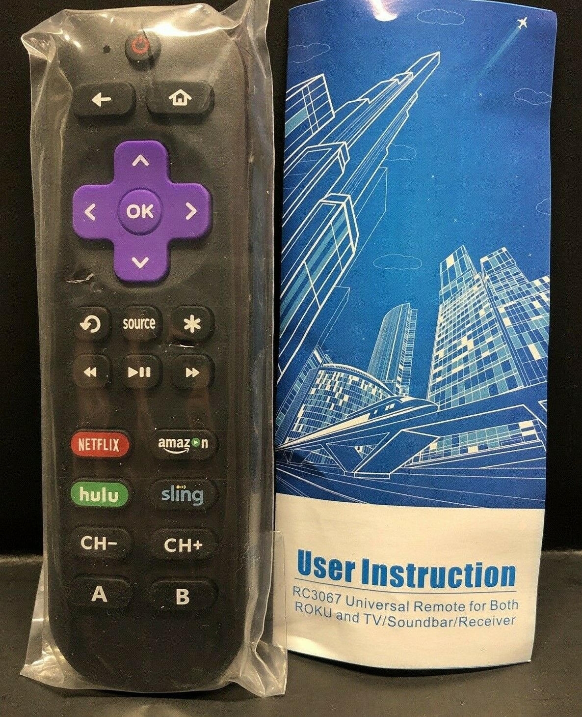 Universal Replacement RC3067 Remote Control Compatible W/ Ro