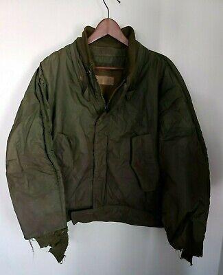Vintage Korea WW2 US Navy Military Bomber Flight Jacket Coat N-140 62236 Mens L