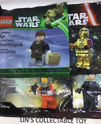 Lot Of 4 LEGO Star Wars Polybags Han Solo C-3Po 5001621,5002948,5004406,5004408