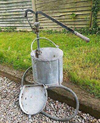 Vintage Riveted Galvanised  MYSTO Sprayer Planter bucket trough Garden Feature