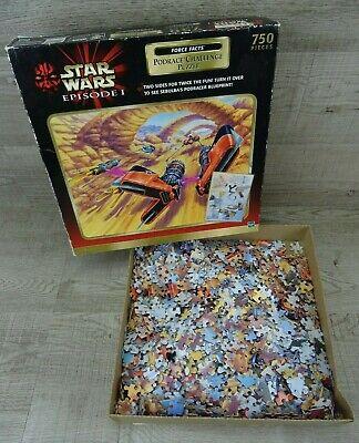 Star Wars Episode 1 Podrace Challenge Jigsaw Puzzle Hasbro 1999 Complete
