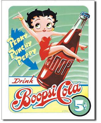 Betty boop boopsi Cola Metal tin sign cartoon Home Bar Garage Wall Decor New