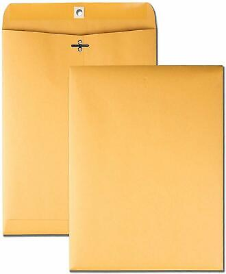 Brown Kraft Catalog Clasp Envelopes Gummed Seal 12 X 15.5 10 Each