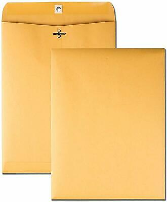 Brown Kraft Catalog Clasp Envelopesgummed Seal 9 X 12 10 Each.