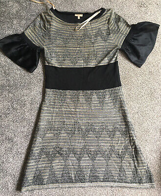 Womens Karen Millen Dress Size 3 Black/pattern