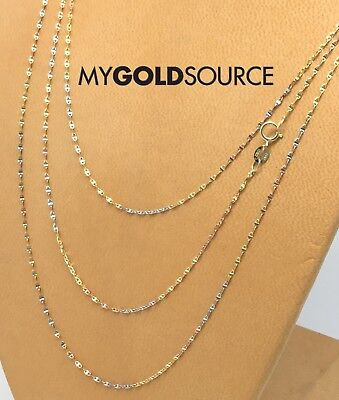 Gold Fancy Italian (14k Gold Necklace Fancy Italian Anchor Tri-Color Gold Chain 1mm 16/18/20 Inches  )