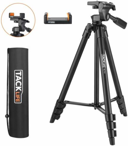 Lightweight Tripod 55-Inch, Aluminum Travel/Camera/Phone Tripod with Carry Bag,