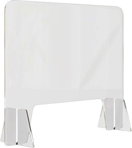 "Sneeze Guard Plexiglass Shield - 32"" x 32"" for Desk & Counter Tops-Shatterproof"