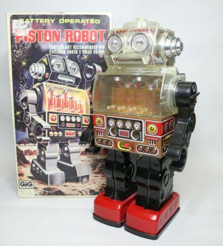Vintage Tin Piston Robot VIDEO!