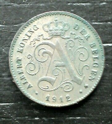 monnaie munt Belgique Belgie 1 cent 1912 légende flamande