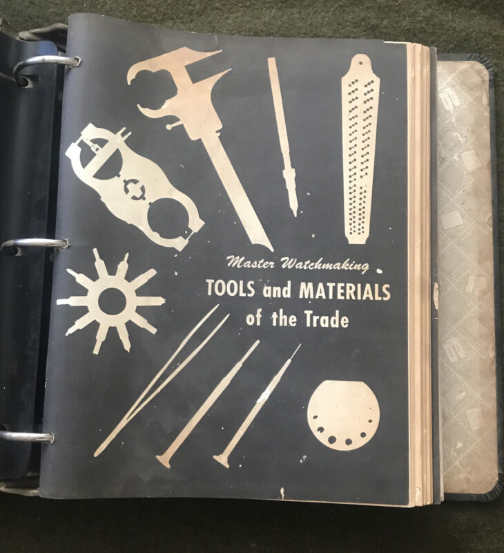 Vintage Chicago School of  Watchmaking Lesson Book. 1-26.