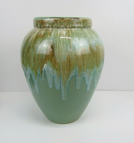 RARE Robinson Ransbottom Oil Jar with Foamy Dripping Running GLAZE Multi Color
