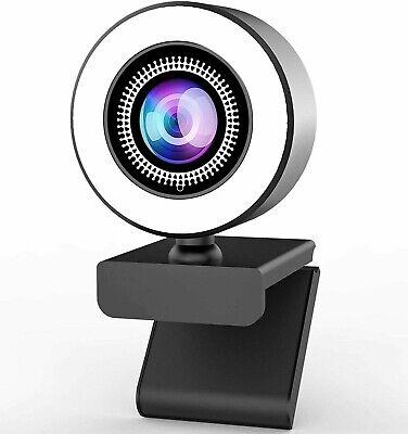 WEBCAM FULL HD CON MICROFONO PC LED FOCUS VIDEOCHIAMATE SKYPE SMARTWORKING