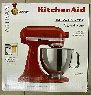 KitchenAid KSM150PSER Artisan Tilt-Head Stand Mixer 5Qt RED NEW