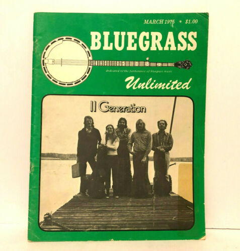 Blue Grass Unlimited March 1975 Magazine Vintage Great Lakes Banjo