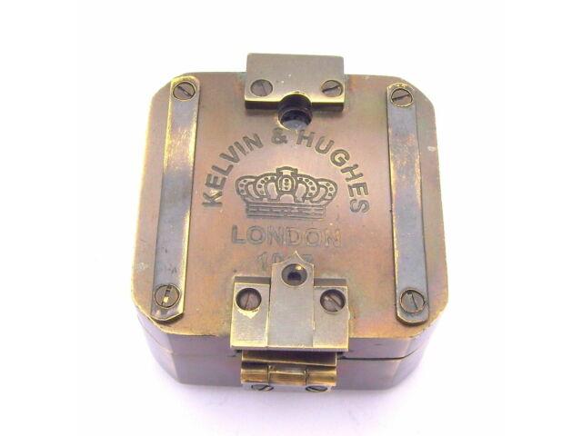 Solid Brass Kelvin & Hughes 1917 Brunton Compass/Antique Compass/Vintage Compass