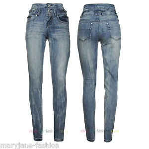 New-Womens-Ladies-Denim-High-Waisted-Slim-Skinny-Fit-Jeans-Sizes-UK-6-8-10-12-14