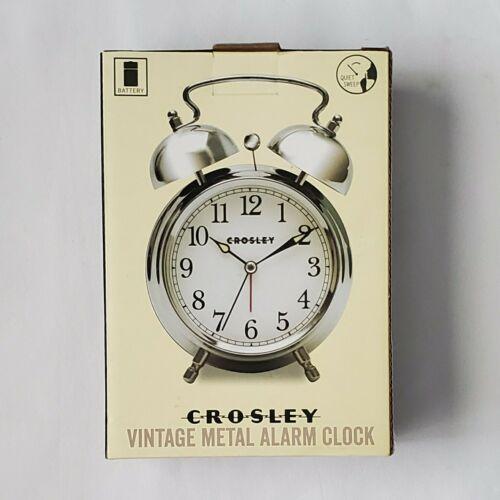 Crosley 33013 Classic Twin Bell Vintage Metal Alarm Clock /