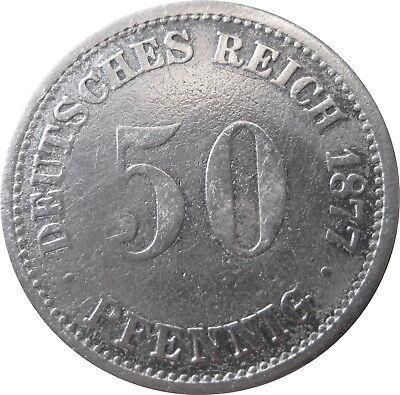 J  7   50 Pfennig  1877 A in S-SS   575002