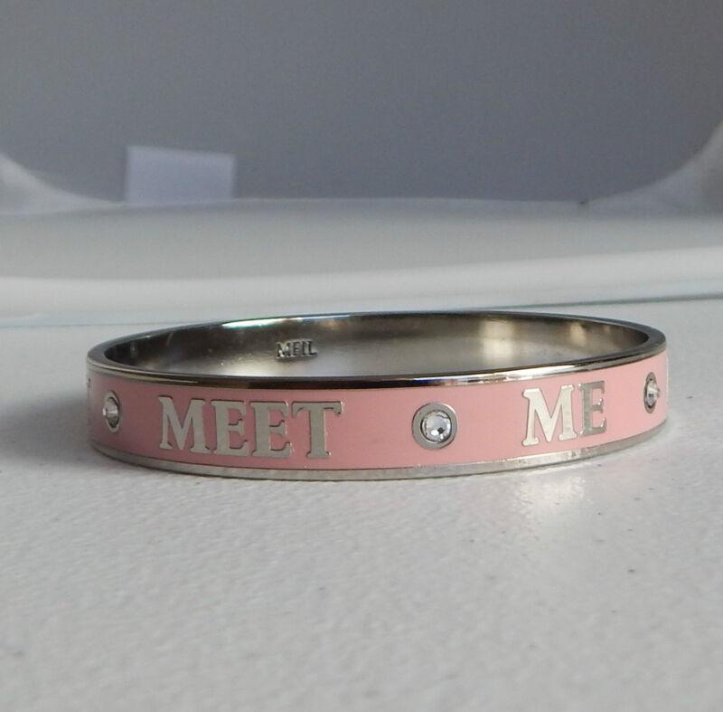 Brighton New My Flat in London HAUTE POOCH Pink Bangle Bracelet JB2997 NEW