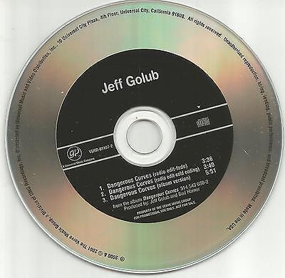 Jeff Golub Dangerous Curves W  2 Rare Edits Promo Dj Cd Single Usa 2001 Mint