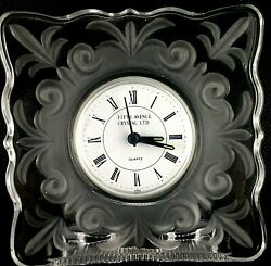 Vintage Fifth Avenue Crystal Ltd Table Desk Clock Circa 70s Japan
