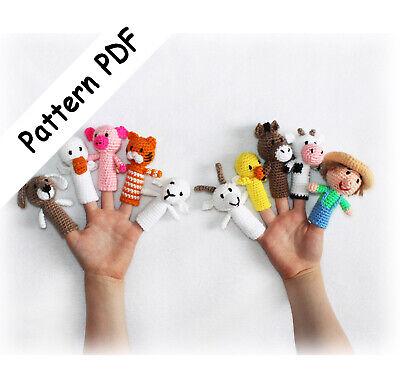 Old MacDonald Finger Puppets Crochet Pattern PDF (Read Description) - Crochet Finger Puppets