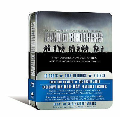 Band of Brothers w/ Limited Tin Case (Blu-ray, 6 Discs, Region Free) *NEW*