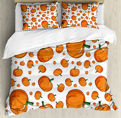 Harvest Duvet Cover Set with Pillow Shams Halloween Plump Pu