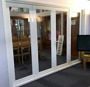 ALUMINUM BIFOLD FRENCH DOORS, 2950X2100H, 4 PANEL, 8MM GLASS Vineyard Hawkesbury Area Preview