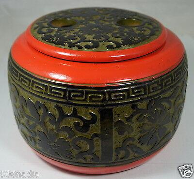 VINTAGE ASIAN CHINESE OR JAPANESE PORCELAIN/CERAMIC JAR,BOWL,TEA CADDY,FLORAL