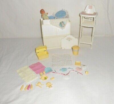 Vintage 1984 Mattel Barbie Dream House Nursey Furniture, Baby and Accessories