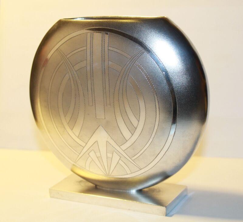 Stunning Vintage Australian 1920s Pure Art Deco Solid Silver Vase