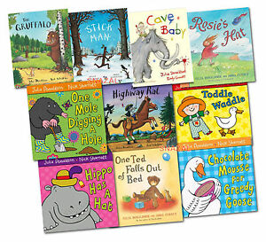Gruffalo-Collection-Julia-Donaldson-10-Books-Set-NEW-Stick-man-The-Highway-Rat
