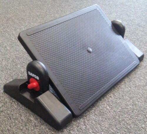 SAFCO Fully Adjustable Under Desk Ergonomic Foot Rest (Black) New