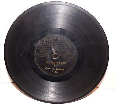 """RARE Antique 7"""" 1st VICTOR RECORD A-583 Phonograph Gramophone 1901"""