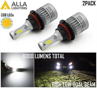 Alla Lighting LED Best Seller 6000K Pure White 9007 Headlight Light Bulb
