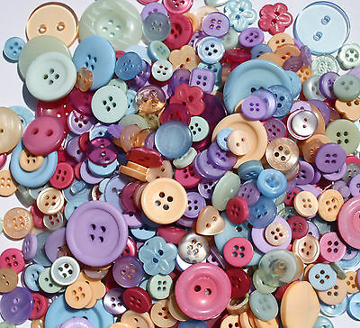 Hand Dyed New Buttons In 12 Beautiful Colorblend Colors Mix Lot Of 100 Craft Sew