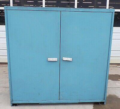 Metal Storage Cabinet 60 X 28 X 60 2 Door 3 Shelf