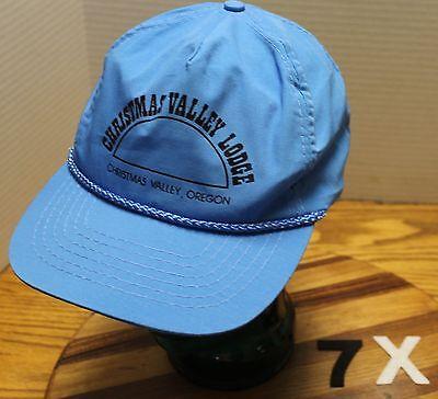 LLEY LODGE OREGON HAT BLUE ZIP STRAP ADJUSTABLE VGC (Blue Christmas Hats)