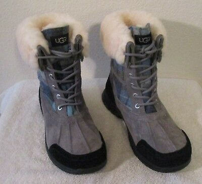 NEW UGG Butte Surf Plaid Mens Waterproof Winter Boots 11 Blue Surf Plaid $250 for sale  Shipping to Canada